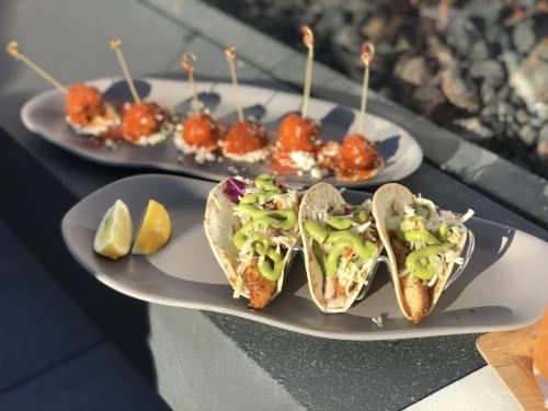 Meatballs and Tacos at Hive & Honey