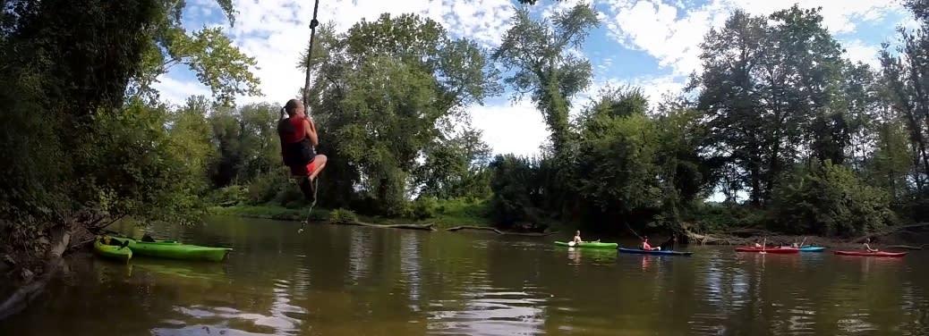 Cocoa Kayaks Rope Swing