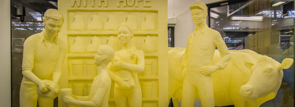 2016 Butter Sculpture at the Pennsylvania Farm Show in Harrisburg, PA
