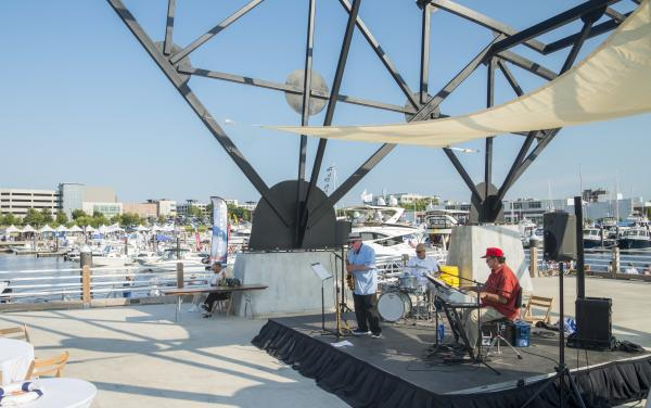 Concert on Port City Marina's Event Pier