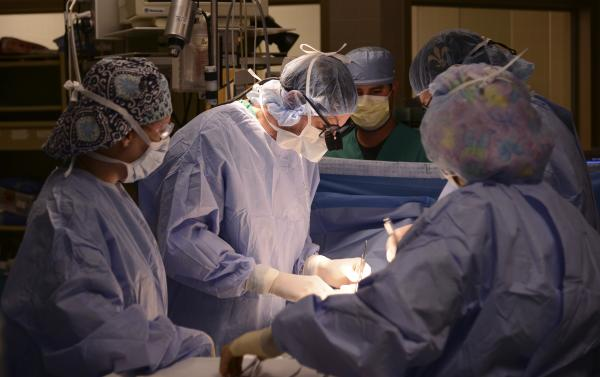 Surgery being performed at WJMC