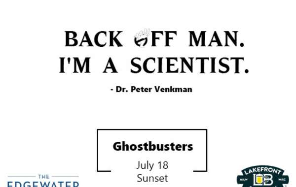 Facts and A Flick Presented by Lakefront Brewery - Ghostbusters