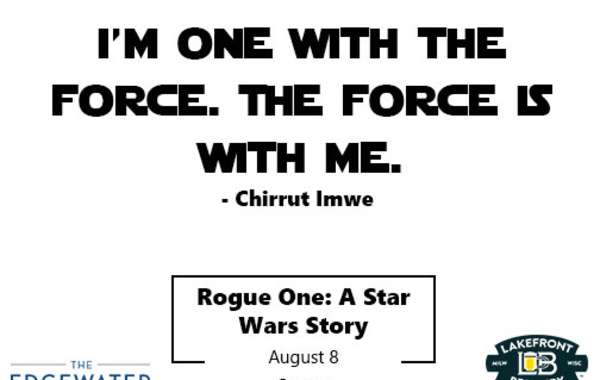 Facts and A Flick Presented by Lakefront Brewery I Rogue One: A Star Wars Story