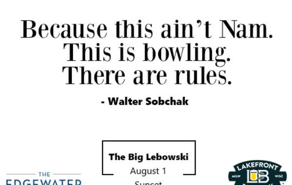 Facts and A Flick Presented by Lakefront Brewery - The Big Lebowski