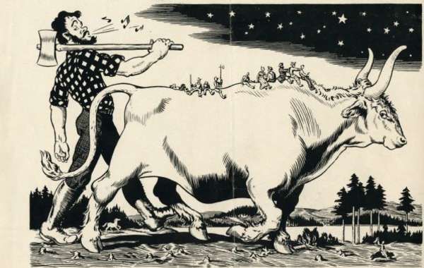 Cure Cabin Fever: Paul Bunyan and Babe the Blue Ox