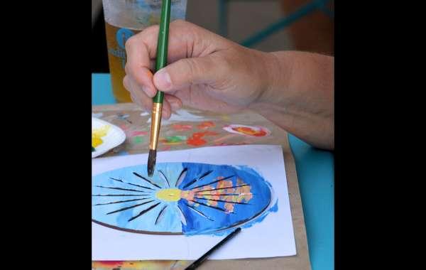 Art Tapas: Mixed Media Terrace Chair Back Painting