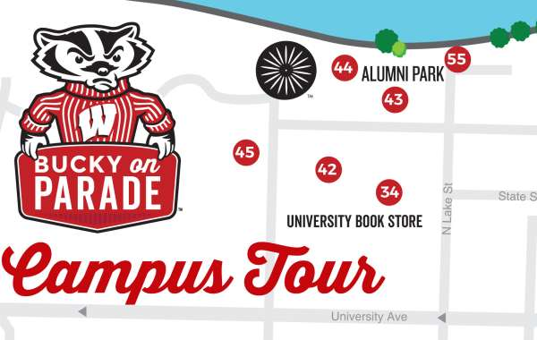 Bucky on Parade Campus Tour