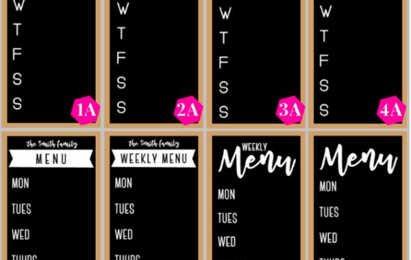 DIY Menu Boards and Summer Meal Planning Workshop (June)
