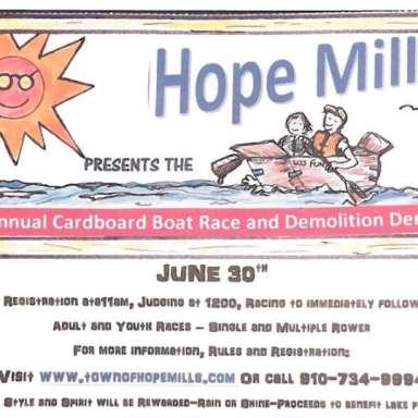 Cardboard Boat Race & Demolition Derby