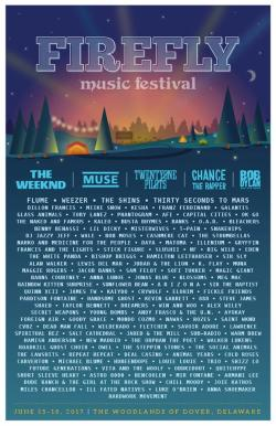 Firefly Music Festival Lineup 2017