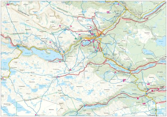 Geilo hiking map