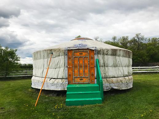 Yurt at Journey Home Artist Retreat, Manitoba
