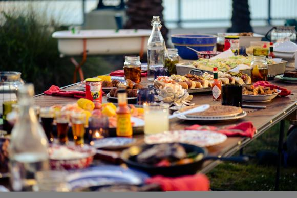 Enjoy a Cajun potluck with family and friends!