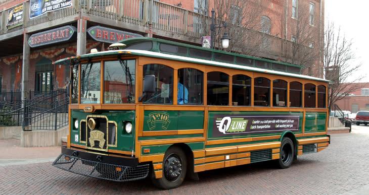 Q-Line Trolley in Wichita Kansas