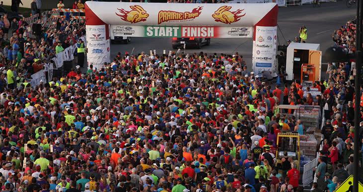 Prairie Fire Marathon Start Finish Line