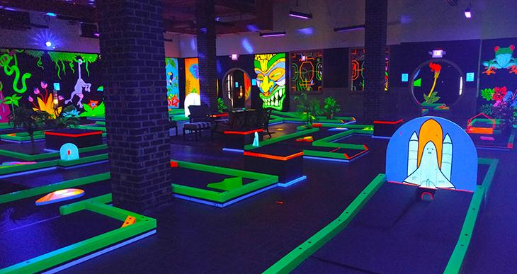 Glow Golf Indoor Family Fun