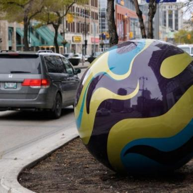 Erica Swendrowski, Marbles on Portage, 2012 — Photo by Robert Tinker