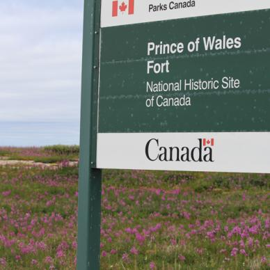 Fort Prince of Wales sign
