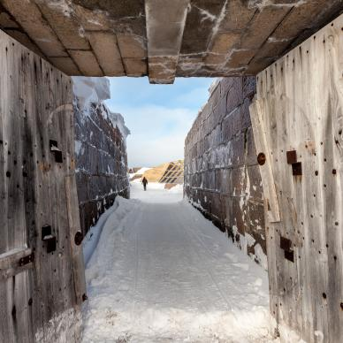 Inside the walls of Prince of Wales Fort in Churchill, Manitoba