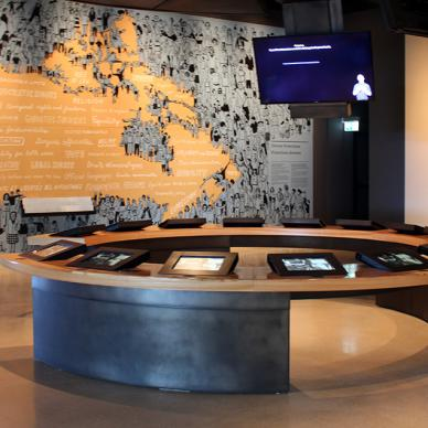 Interactive survey activity at the Canadian Museum for Human Rights