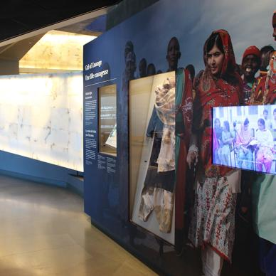Malala at the Canadian Museum for Human Rights