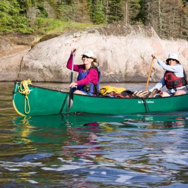 Paddling down the Bloodvein River in Manitoba