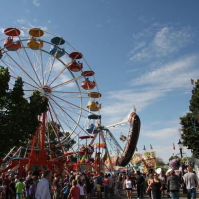 Midway at Morden Corn and Apple Festival in Manitoba