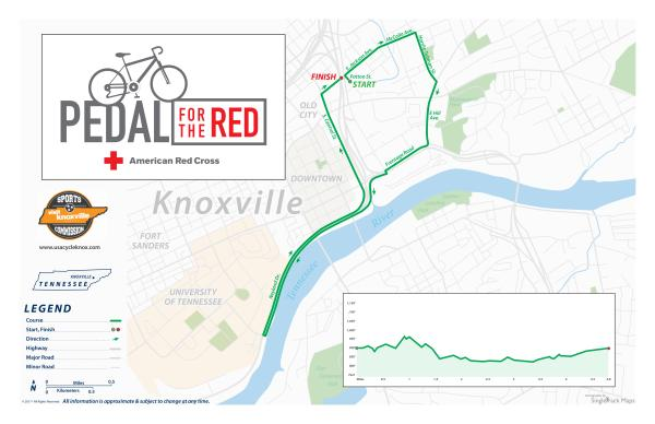 Pedal for the Red Course Map