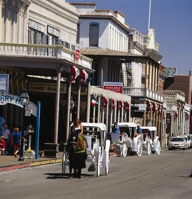 Old Sacramento is a Gold Rush-era town with Carriage Rides, Museums and great shops and restaurants