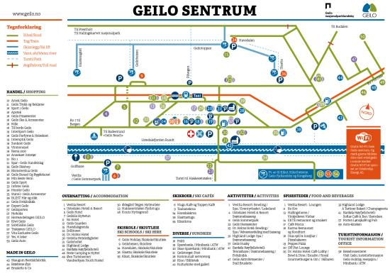 Geilo sentrumskart norsk