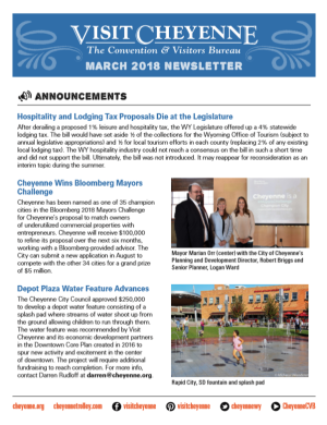 VC Newsletter March 2018 COVER