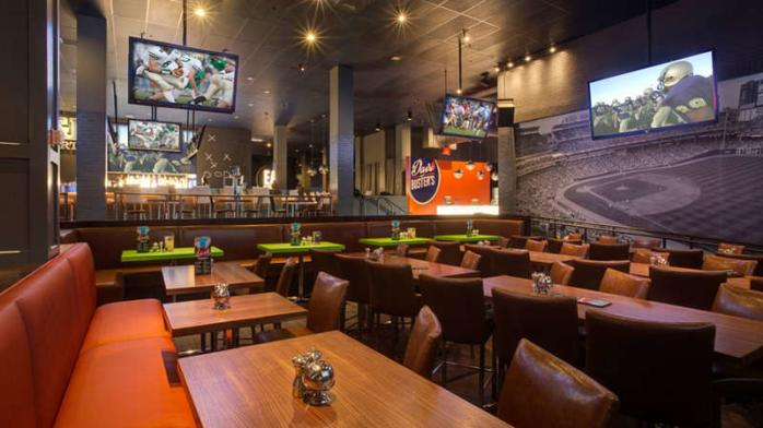 Dave & Busters Sports Bar Interior