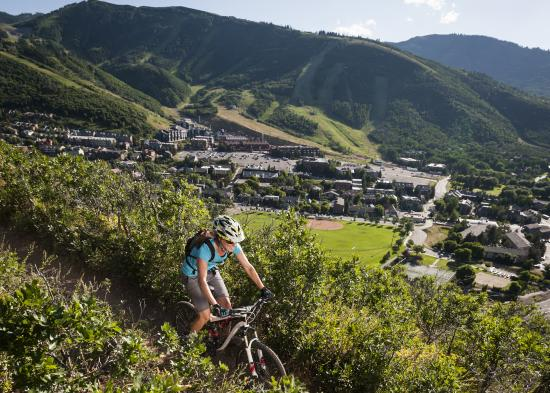 Mountain Biking Over Town