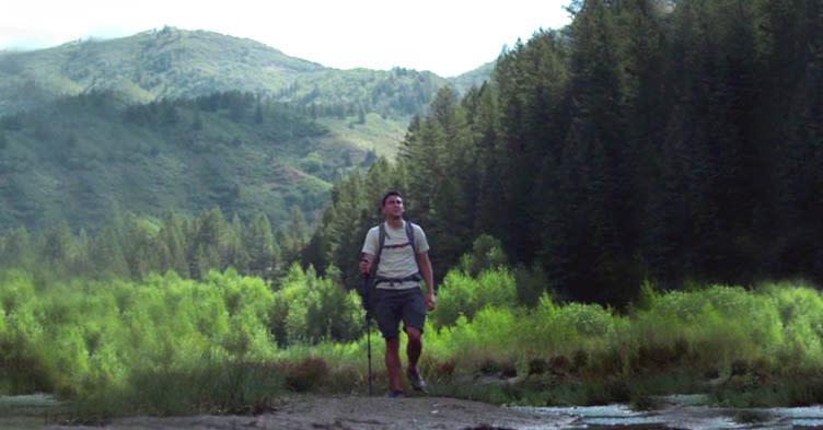 guy hiking