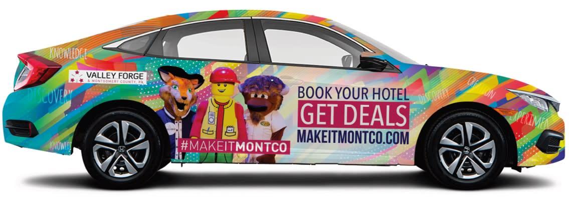 #MakeItMontco Hoitel Package Carvertise