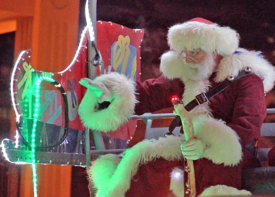 Santa on Town Lift