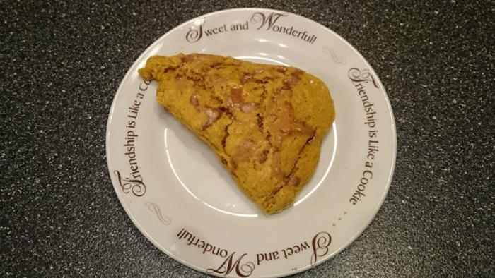Pumpkin scones at Bran n' Shorts Coffee House