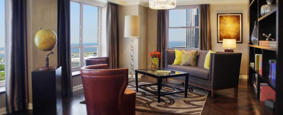 Hilton Chicago, Presidential Suite Living Room