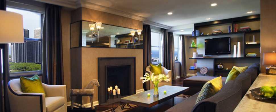 Hilton Chicago, Dusable Suite Living Room