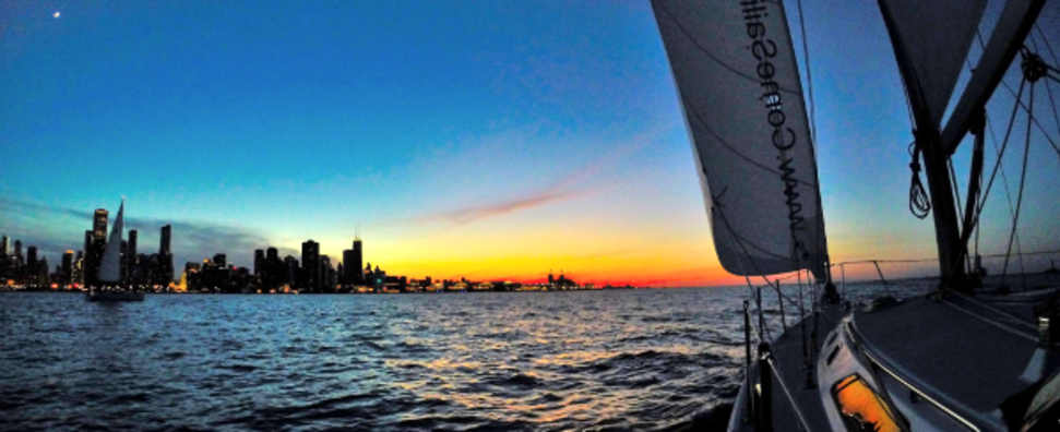 Sunset Sail in Chicago - 2016 Come Sailing, Inc.