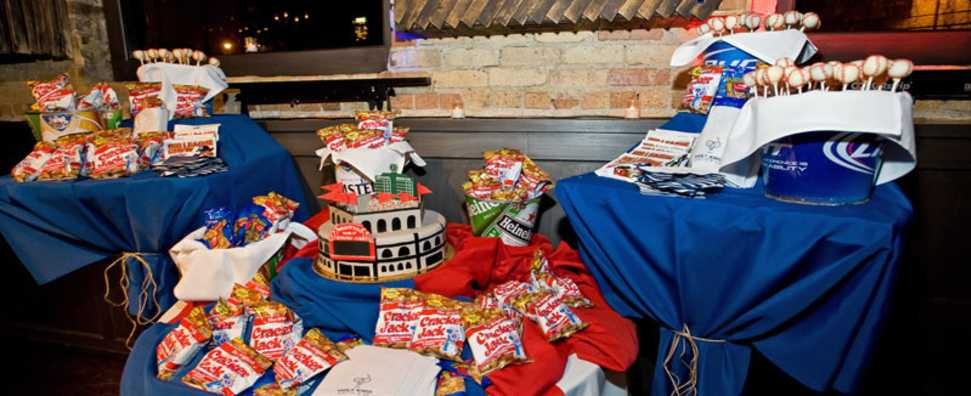 Cubs Company Outing with Sweets Table in Private Party Room