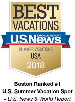 Boston Ranked #1 U.S. Summer Vacation Spot