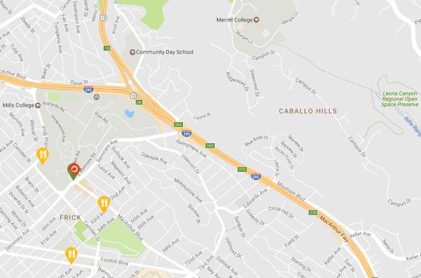 East Oakland Map