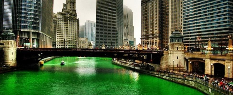 Image result for saint patrick's day chicago river