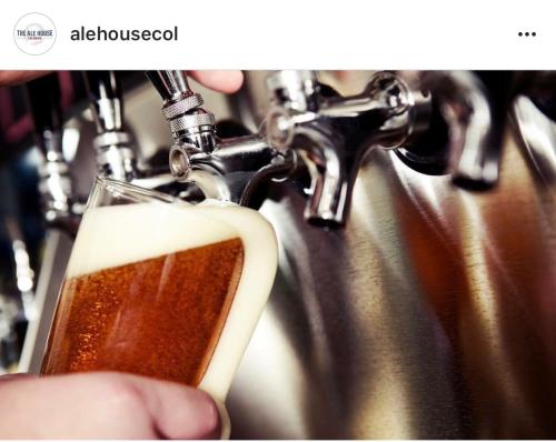 Pouring a draft beer The Ale House Columbia