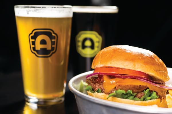 Beer and Burger from Alamo Drafthouse movie theater