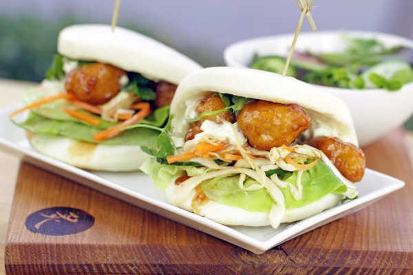 Chicken Karaage Bao Sandwich