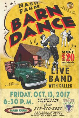DO-SI-DO ON OVER TO NASH FARM'S BARN DANCE FRIDAY, OCTOBER 13