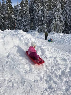 Sledding at Salt Creek Sno-Park