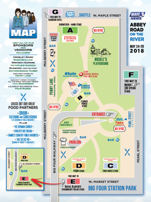 Abbey Road on the River 2018 Map